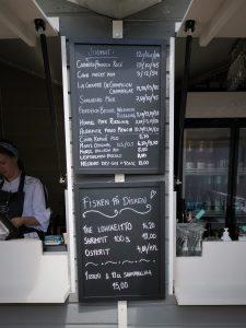 Kasarmitori menu